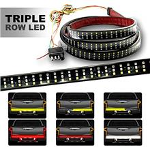 [From USA]HYB LED Tailgate Light Bar Triple Row 60 Inch Red Brake Running Whit
