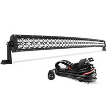 [From USA]LED Light Bar AUTO 4D 42 Inch Curved Led Work Light 350W with 8ft Wi