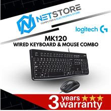 LOGITECH DESKTOP MK120 WIRED KEYBOARD & MOUSE COMBO 920-002565
