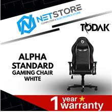 TODAK ALPHA STANDARD GAMING CHAIR (WHITE) 2129-2134