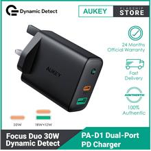 Aukey PA-D1 Focus Duo 30W Power Delivery Dual-Port PD Charger with Dynamic Det