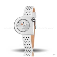 LIP Watch 671112 Women's Mach 2000 Mini Leather White Made in France