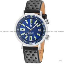 LIP Watch 671501 Nautic Ski Rotating Bezel Auto Leather Made in France