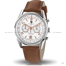 LIP Watch 671594 Men Himalaya Chronograph Leather Brown Made in France
