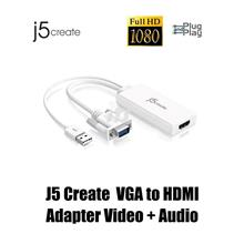 J5 Create VGA to HDMI Video + Audio Adapter (JDA214)