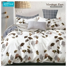 Essina Valencia 100% Cotton 620TC Quilt Cover Set - King (Vintage Fan))