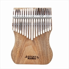 GECKO KALIMBA 17 KEYS CAMPHOR WOOD WITH INSTRUCTION AND TUNE HAMMER (WOOD)