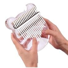 17-Key Kalimba Thumb Piano Transparent Acrylic Material with Carry Bag Musical