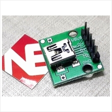 USB Mini B Female To 2.54mm Header Adaptor Board
