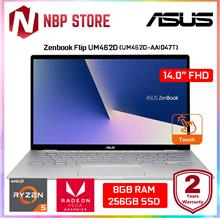 "Asus Zenbook Flip 14 UM462D-AAI047T 14 "" FHD Multi-Touch Laptop Light Gre"
