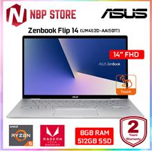 "Asus Zenbook Flip 14 UM462D-AAI501T 14 "" FHD Touch Laptop Light Grey"