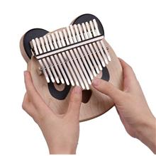 Cute Panda Wooden 17-Key Kalimba Thumb Piano Maple with Carry Bag Musical Note