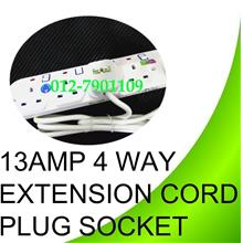 4 Gang 1.8m 4.5m Extension Cord Trailing Socket Plug Sirim With Fused