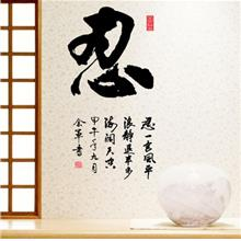 Chinese Calligraphy Writing Style Oversized Patience Will Win DIY Crea
