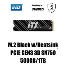 WD Black PCIE GEN3 3D SN750 (500GB/1TB) - With Heatsink