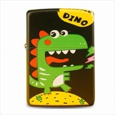 Black Matte Little Dino Zippo Lighter