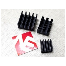 Raspberry PI 4 Heatsink Set 3pcs Black