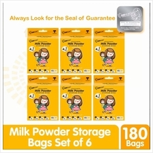 SUNMUM Milk Powder Storage Bags 6 Boxes Combo (180s)