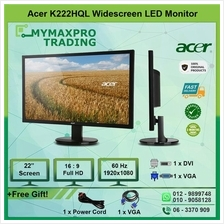 Acer K222HQL 22' LED Monitor 22-inch Full HD 1080p 1920x1080 VGA DVI