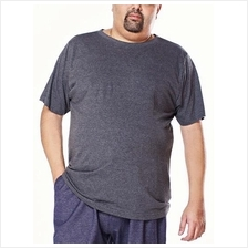 Jazz & Co Men Plus Size S/S R/N Dk Grey Tee