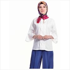 Jazz & Co Women Standard Size White Wide Sleeve Dobby Top
