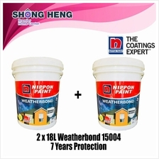 Bulk 2 x Nippon Paint Weatherbond 15004 7 Years Protection 18L - WHITE