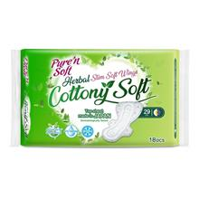 PURE  & SOFT Herbal Cottony Soft Slim Wings 29cm 18s