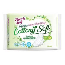 PURE  & SOFT Herbal Cottony Soft Ultra Thin Wings 235cm 24s
