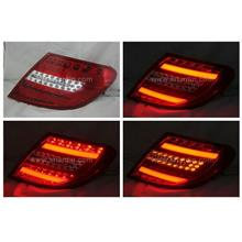 Mercedes W204 07-11 Red Clear Light Bar LED Tail Lamp