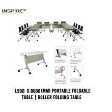L900 x D600(mm) FLICK-I Portable Foldable Table | Roller Folding Table
