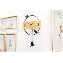 【READY STOCK MY】Creative Wooden Birds Wall Clock Design