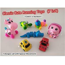 【READY STOCK MY】Classic Running Toys Clockwork Windup Animal