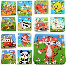 【READY STOCK MY】Educational Animal 9 Pieces Jigsaw Puzzle Kids