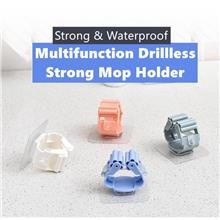 【READY STOCK MY】Drillless Mop Holder Hook Kitchen Suction Stron