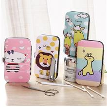 【READY STOCK MY】Cartoon 7 pcs Nail Clipper Stainless Steel Case