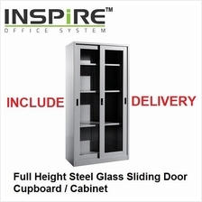 Full Height Steel Glass Sliding Door Cupboard | Cabinet