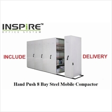 Hand Push 8 Bay Steel Mobile Compactor