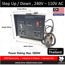 Portable Step Up / Step Down Transformer, 240V AC <- 110V AC, 1000W