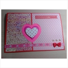 Valentine Card - 3 HEARTS