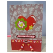 Valentine Card - Love & Green Flower