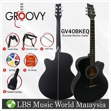"Groovy GV40BKEQ 40 "" Concert Acoustic Electric Guitar with ALT-1 Pickup"