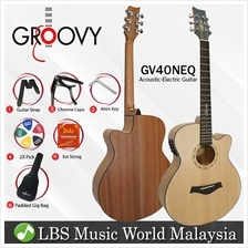 "Groovy GV40NEQ 40 "" Concert Acoustic Electric Guitar with ALT-1 Pickup"