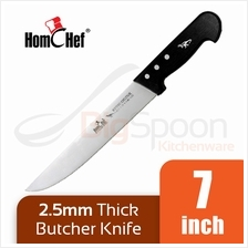 HOMCHEF Butcher Knife 7 inch Stainless Steel 2.5mm Thick Durable Blade
