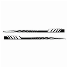 Car Auto Body Stickers Long Stripe Side Skirt Decoration Vinyl Decals