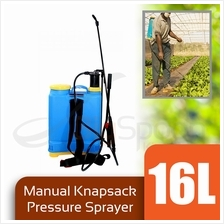 BIGSPOON 16L Manual Knapsack Pressure Sprayer 4 Spray Head Nozzles