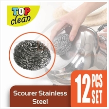 Set of 12 Scourer Stainless Steel Scouring Pad Cleaning Tool Scrubber