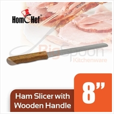 HOMCHEF Ham Slicer With Wooden Handle - 8 inch