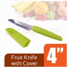 BIGSPOON 4 inch Fruit Knife Stainless Steel with Cover [B-1513]