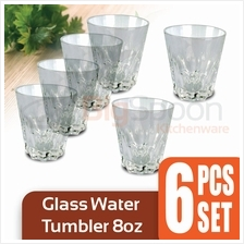 Glass Water Tumbler 8oz 6 PCS Set