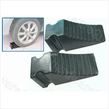 "2Pcs Safety Vehicle Stopper Rubber Wheel Chock 9"" X 4"" (WC9-4)"